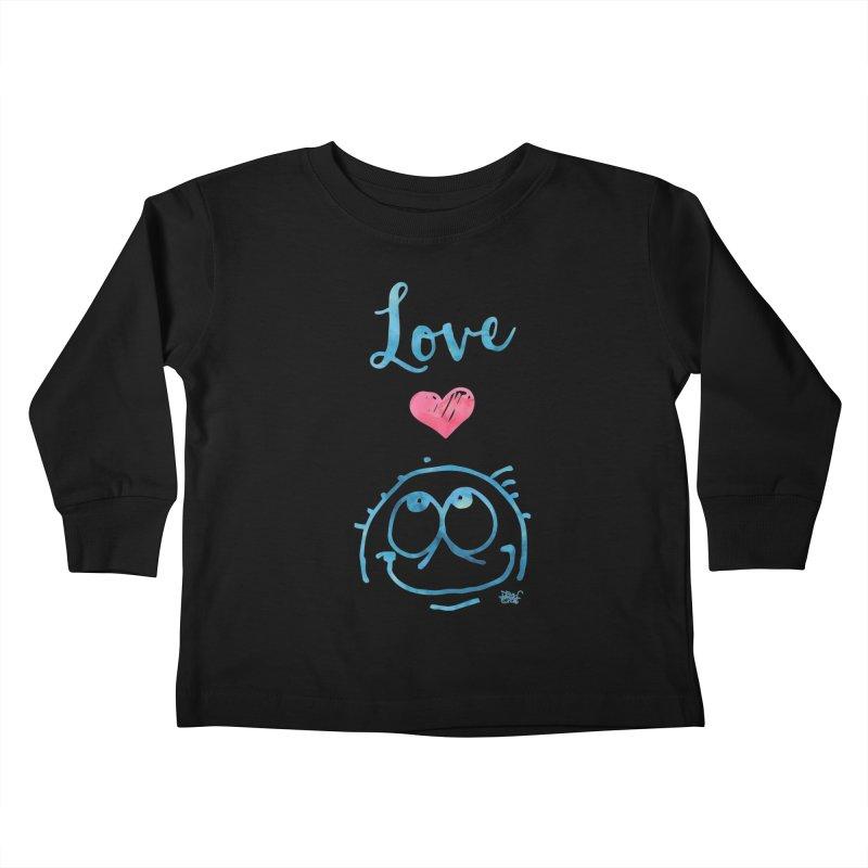 Love Smile Kids Toddler Longsleeve T-Shirt by Fuzzy Poet's Artist Shop