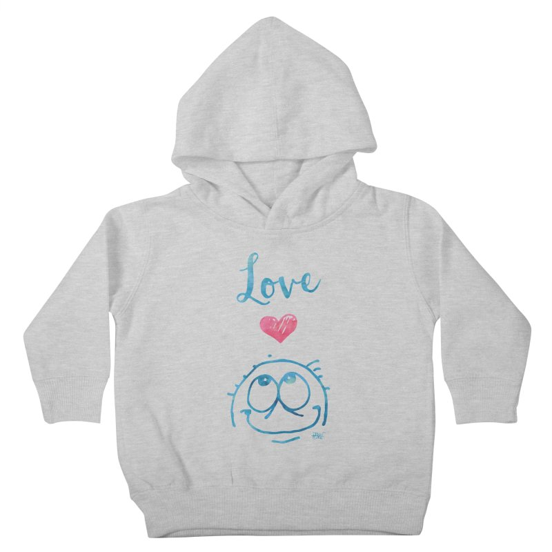 Love Smile Kids Toddler Pullover Hoody by Fuzzy Poet's Artist Shop