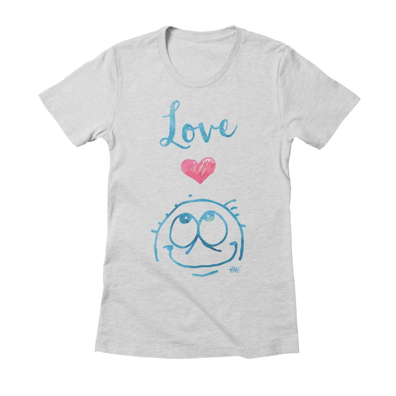Love Smile Women's Fitted T-Shirt by Fuzzy Poet's Artist Shop