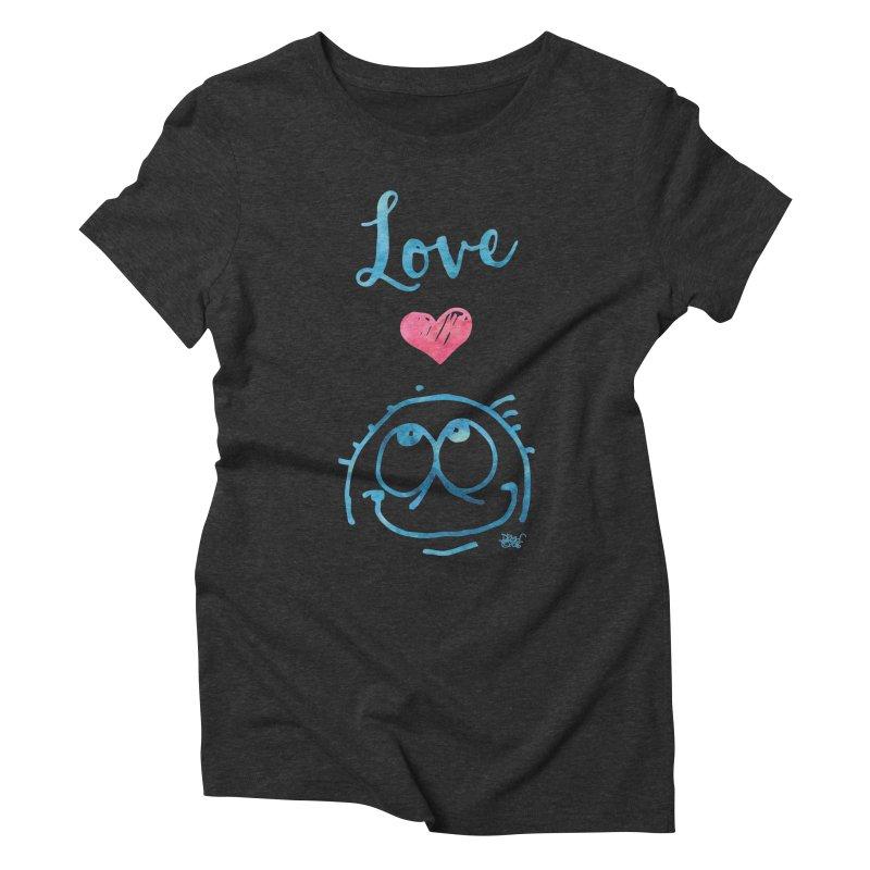 Love Smile Women's Triblend T-Shirt by Fuzzy Poet's Artist Shop