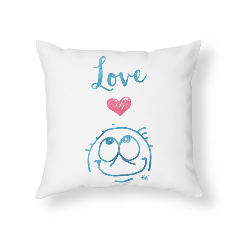 Love Smile Home Throw Pillow by Fuzzy Poet's Artist Shop