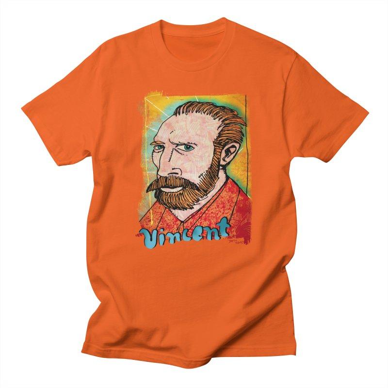 Vincent Men's T-Shirt by Fuzzy Poet's Artist Shop
