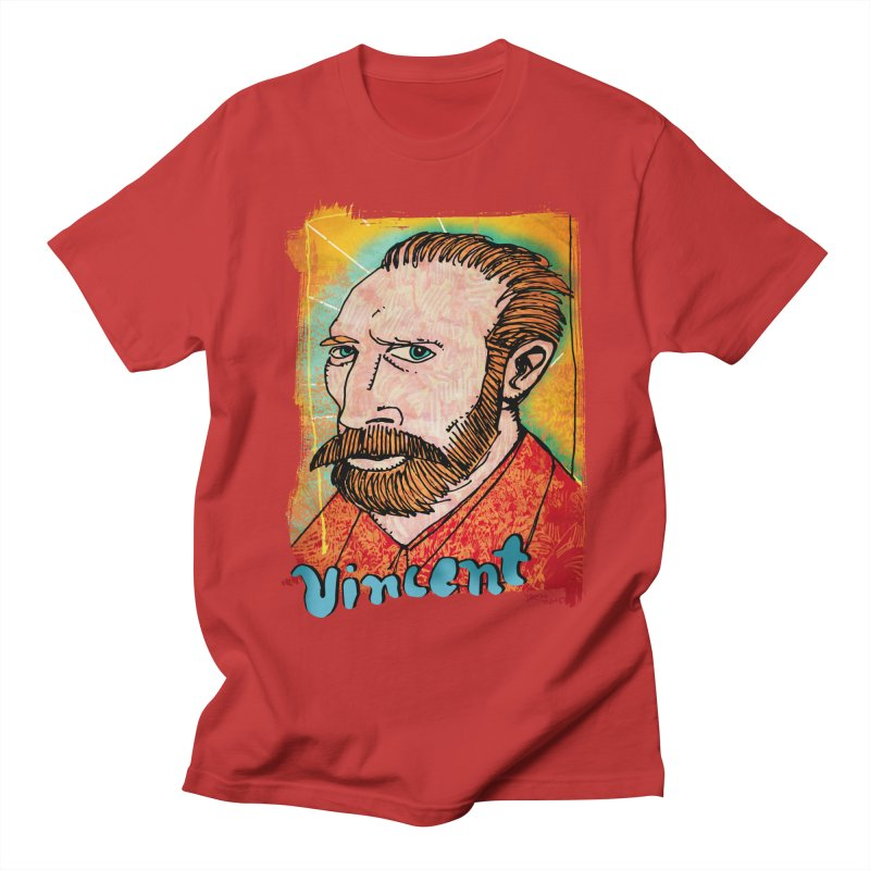 Vincent Men's Regular T-Shirt by Fuzzy Poet's Artist Shop
