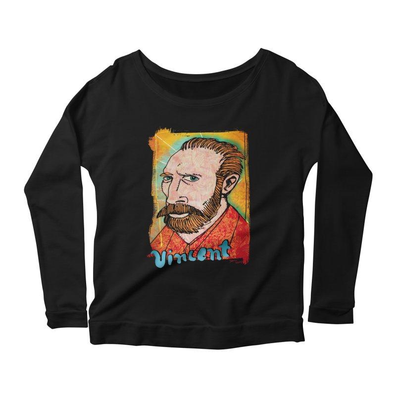 Vincent Women's Scoop Neck Longsleeve T-Shirt by Fuzzy Poet's Artist Shop