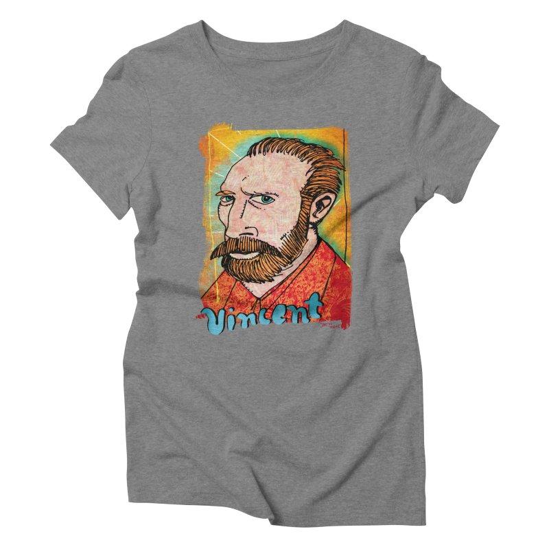 Vincent Women's Triblend T-Shirt by Fuzzy Poet's Artist Shop