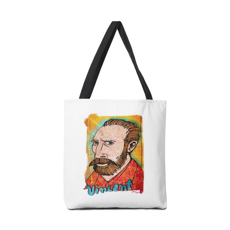 Vincent Accessories Tote Bag Bag by Fuzzy Poet's Artist Shop