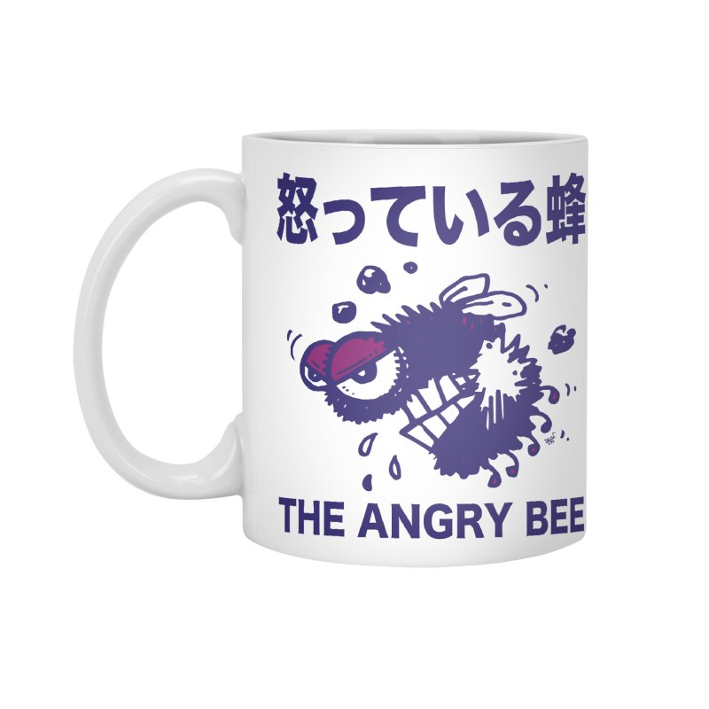 THE ANGRY BEE Accessories Standard Mug by Fuzzy Poet's Artist Shop