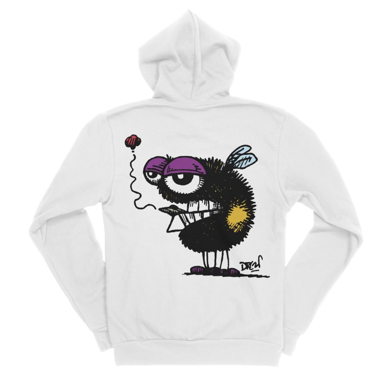 Weedy Bee Women's Zip-Up Hoody by Sophisticated Lowbrow Art For The Discerning Masse
