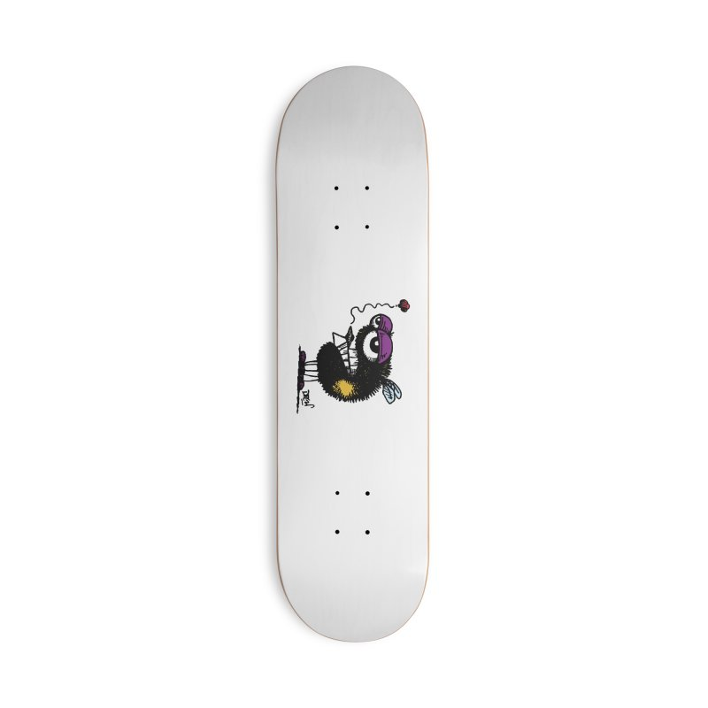 Weedy Bee Accessories Skateboard by Sophisticated Lowbrow Art For The Discerning Masse