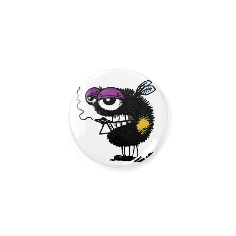 Weedy Bee Accessories Button by Sophisticated Lowbrow Art For The Discerning Masse