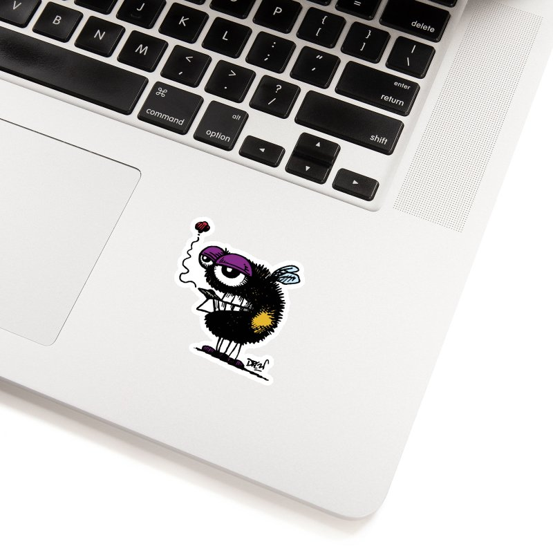 Weedy Bee Accessories Sticker by Sophisticated Lowbrow Art For The Discerning Masse