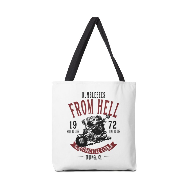 Bumblebee Motorcycle Club Accessories Bag by Sophisticated Lowbrow Art For The Discerning Masse