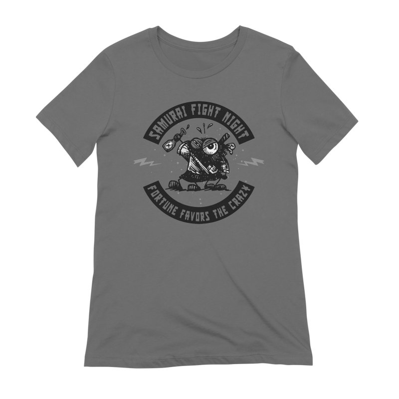 Samurai Fight Night Women's T-Shirt by Sophisticated Lowbrow Art For The Discerning Masse