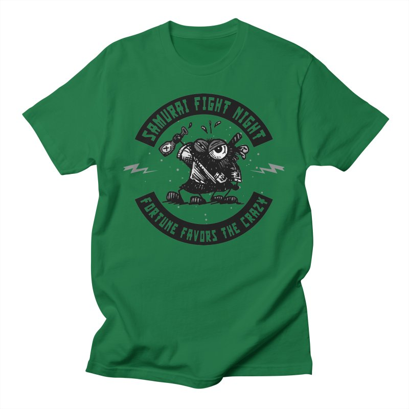 Samurai Fight Night Men's T-Shirt by Sophisticated Lowbrow Art For The Discerning Masse