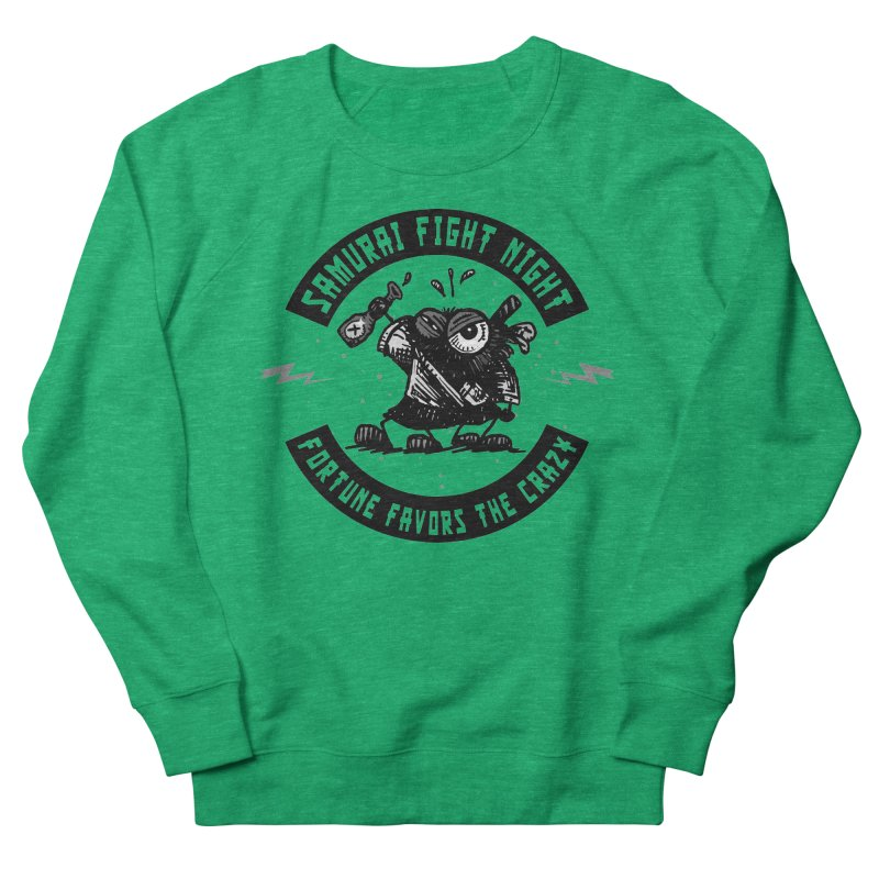 Samurai Fight Night Women's Sweatshirt by Sophisticated Lowbrow Art For The Discerning Masse