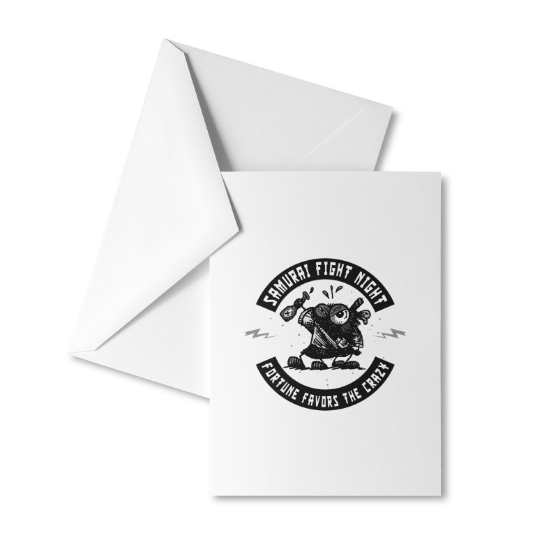 Samurai Fight Night Accessories Greeting Card by Sophisticated Lowbrow Art For The Discerning Masse