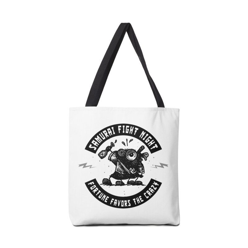 Samurai Fight Night Accessories Bag by Sophisticated Lowbrow Art For The Discerning Masse