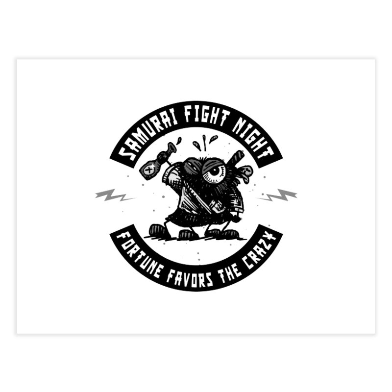 Samurai Fight Night Home Fine Art Print by Sophisticated Lowbrow Art For The Discerning Masse