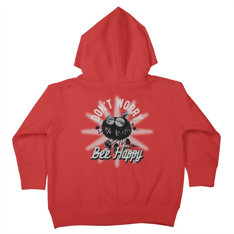 Bee Happy Kids Toddler Zip-Up Hoody by Sophisticated Lowbrow Art For The Discerning Masse