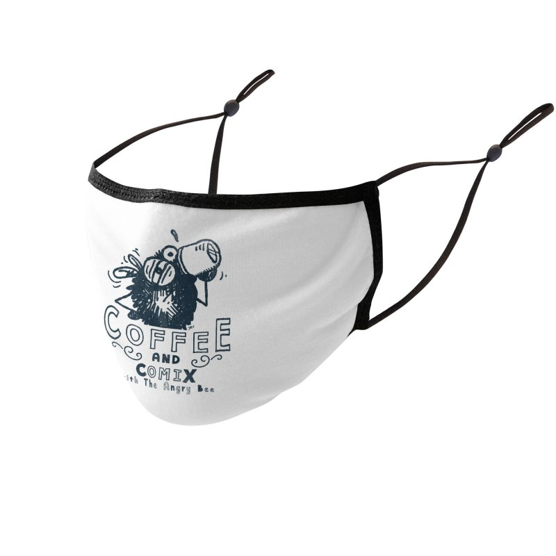 Coffee and Comix Accessories Face Mask by Sophisticated Lowbrow Art For The Discerning Masse