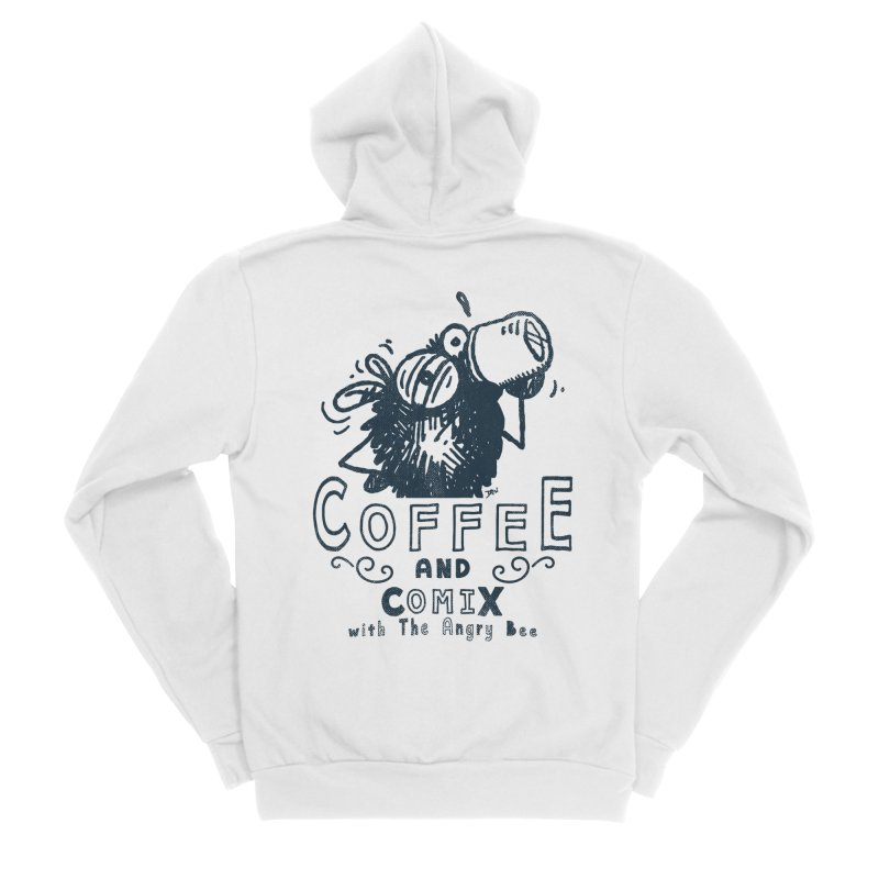 Coffee and Comix Women's Zip-Up Hoody by Sophisticated Lowbrow Art For The Discerning Masse
