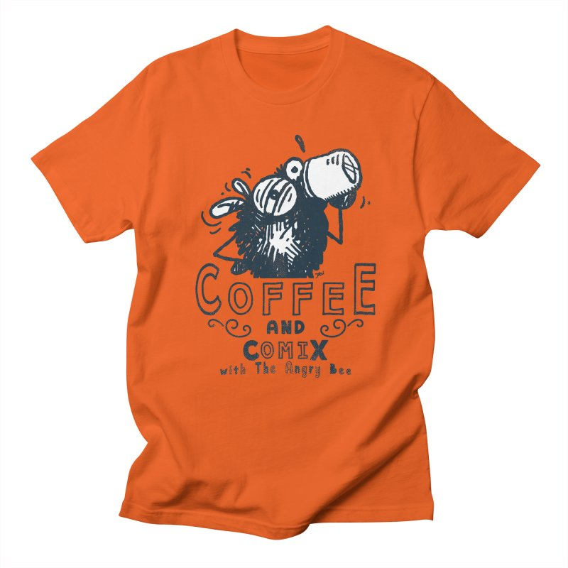 Coffee and Comix Men's T-Shirt by Sophisticated Lowbrow Art For The Discerning Masse