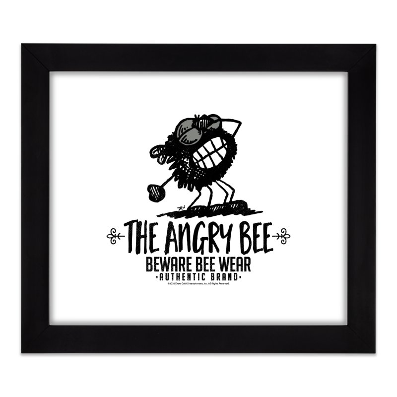 Beware Bee Ware Home Framed Fine Art Print by Sophisticated Lowbrow Art For The Discerning Masse