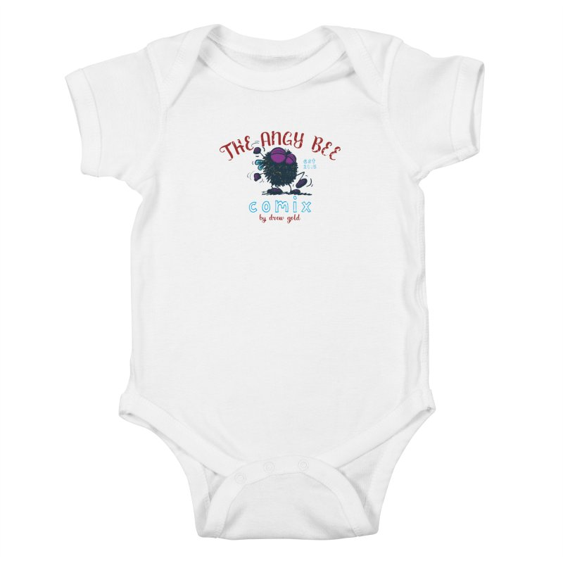The Angry Bee Kids Baby Bodysuit by Sophisticated Lowbrow Art For The Discerning Masse