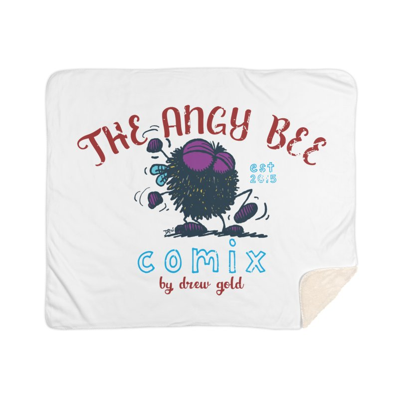 The Angry Bee Home Blanket by Sophisticated Lowbrow Art For The Discerning Masse