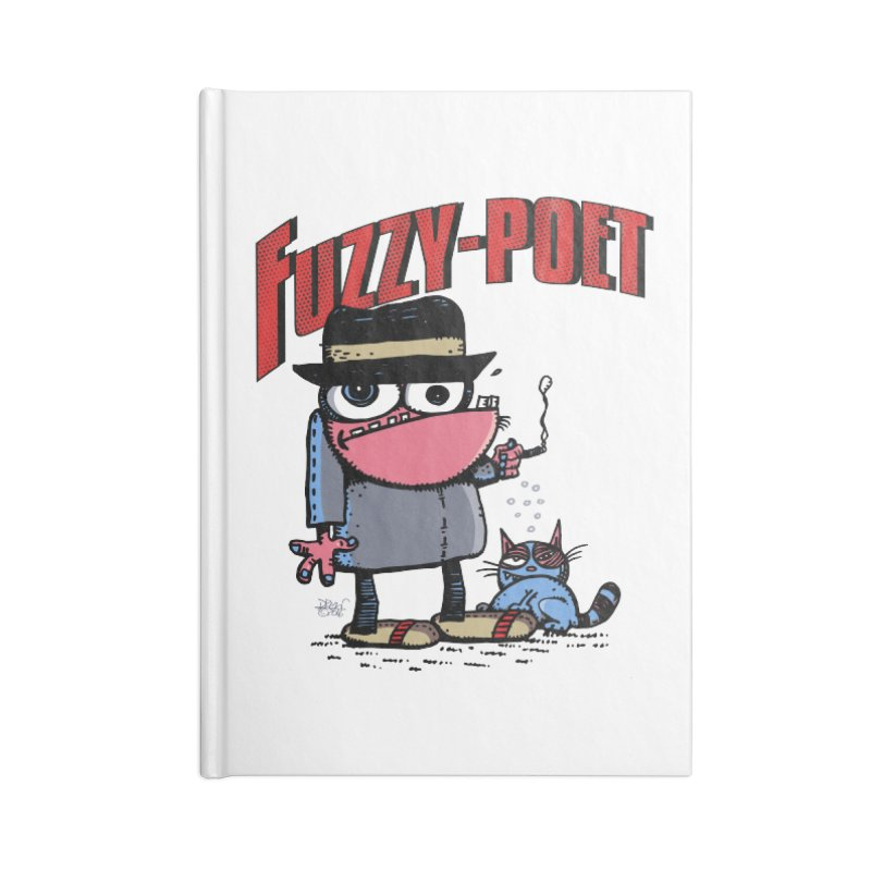 Hip Cat Logo Tee Accessories Lined Journal Notebook by Fuzzy Poet's Artist Shop