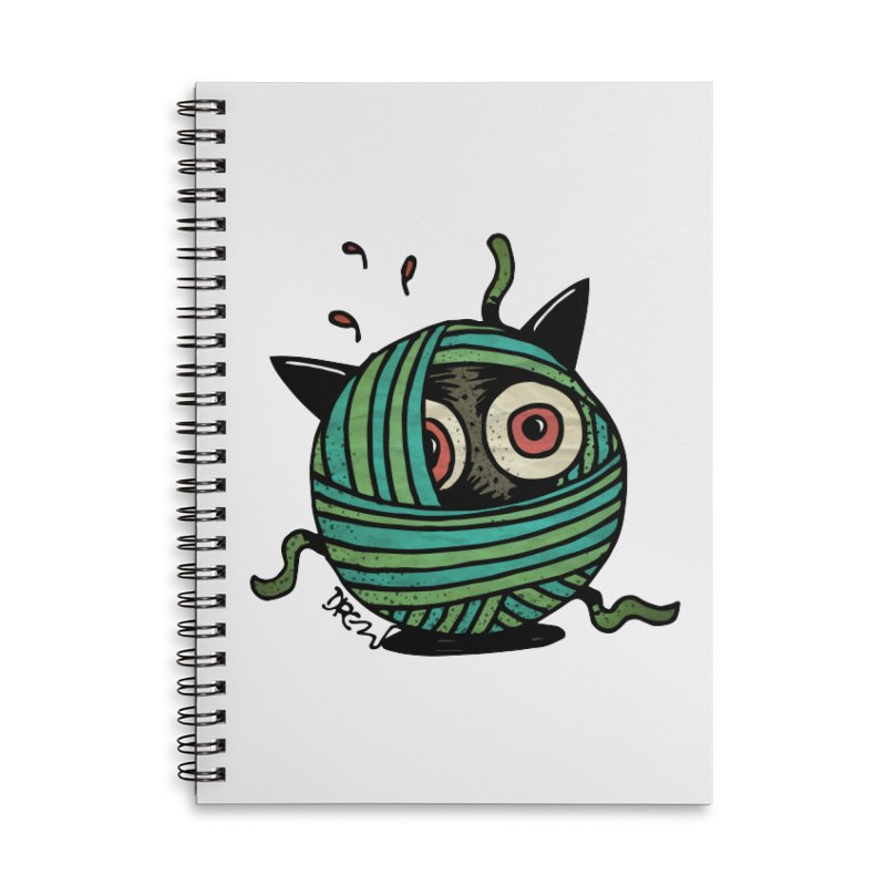 All Wound Up Accessories Lined Spiral Notebook by Fuzzy Poet's Artist Shop