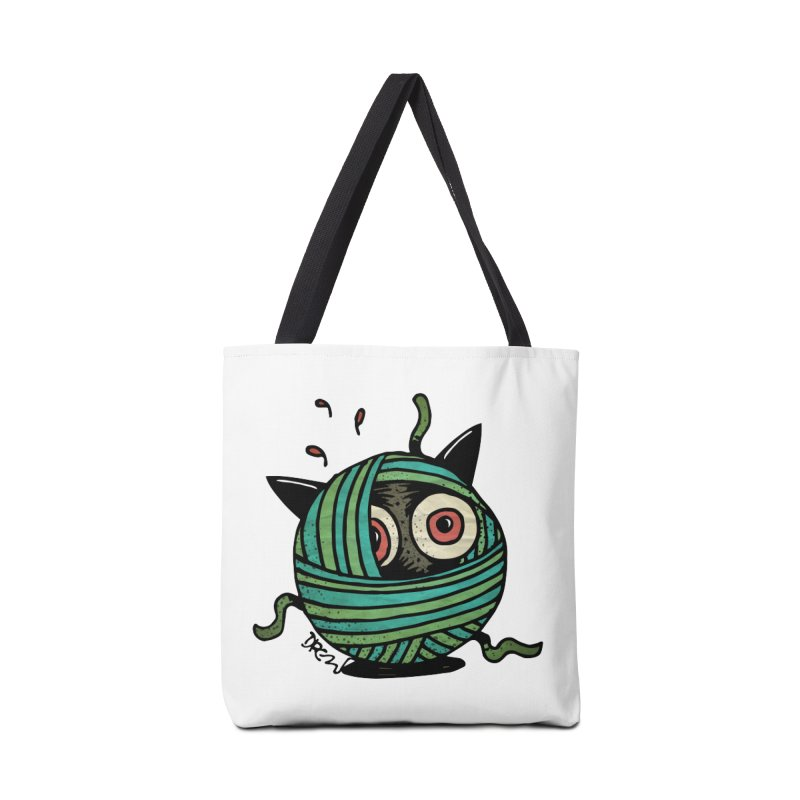 All Wound Up Accessories Tote Bag Bag by Fuzzy Poet's Artist Shop