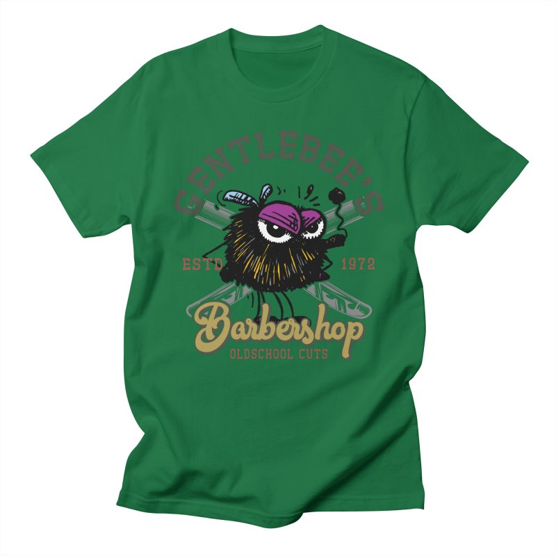 Barbershop Men's T-Shirt by Sophisticated Lowbrow Art For The Discerning Masse