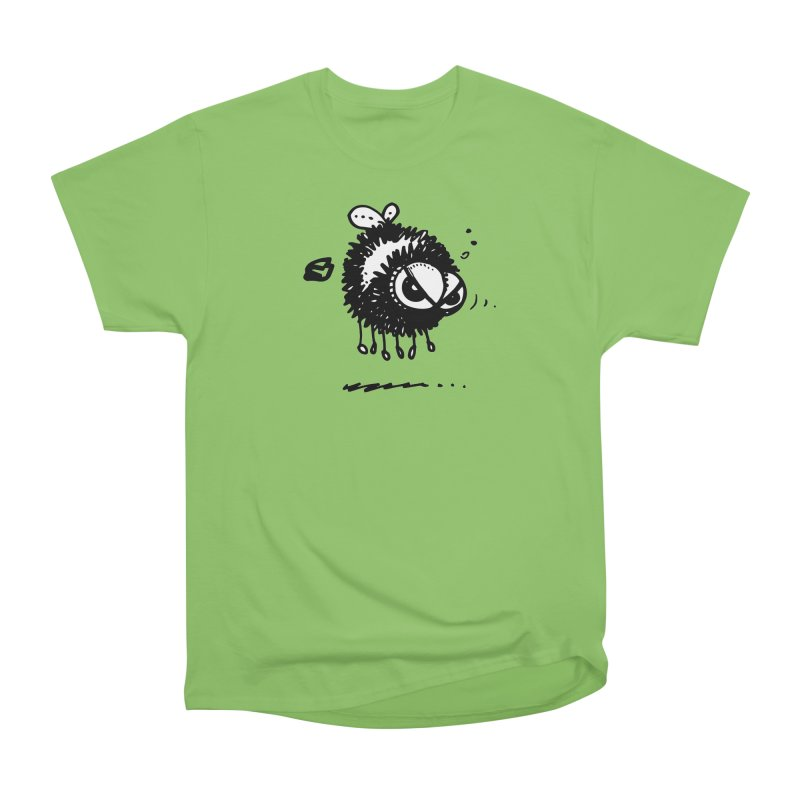 The Angry Bee Women's Heavyweight Unisex T-Shirt by Fuzzy Poet's Artist Shop