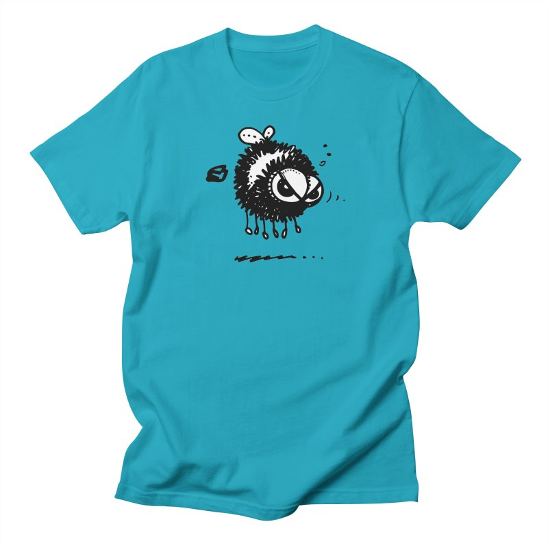 The Angry Bee Women's Regular Unisex T-Shirt by Fuzzy Poet's Artist Shop
