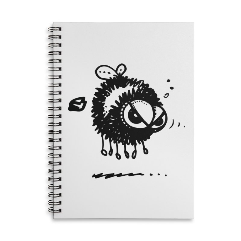 The Angry Bee Accessories Lined Spiral Notebook by Fuzzy Poet's Artist Shop
