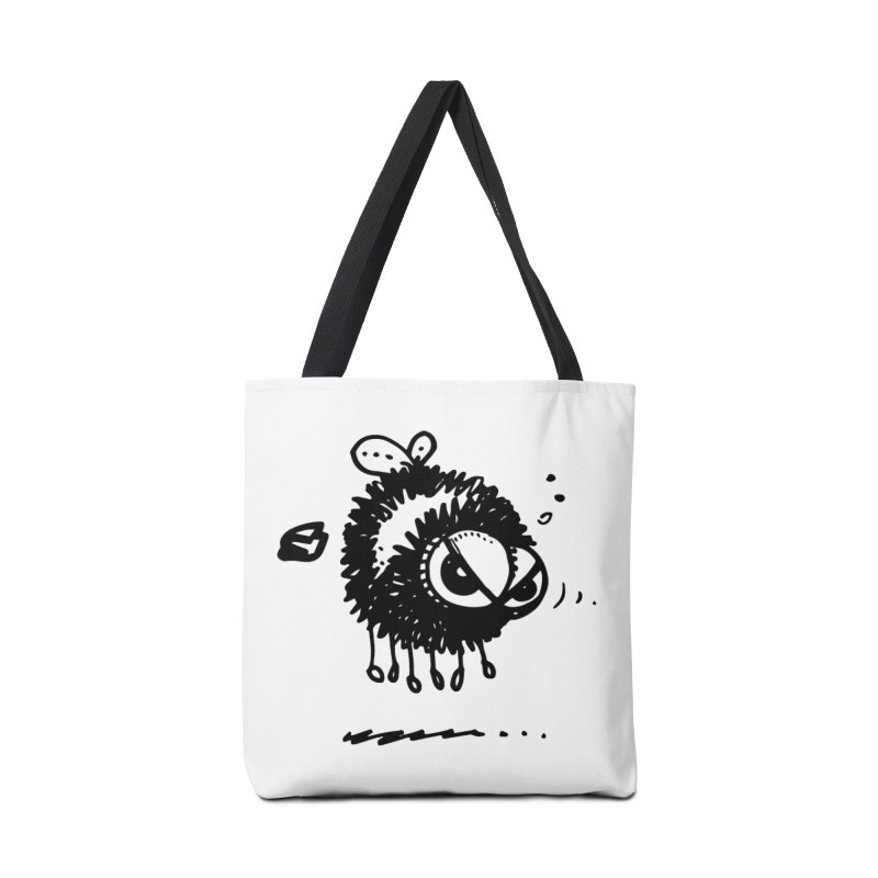 The Angry Bee Accessories Tote Bag Bag by Fuzzy Poet's Artist Shop