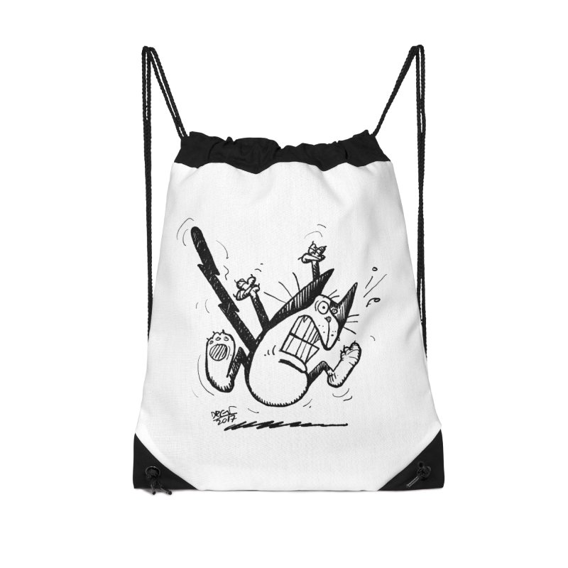 Zapped!!! Accessories Drawstring Bag Bag by Fuzzy Poet's Artist Shop