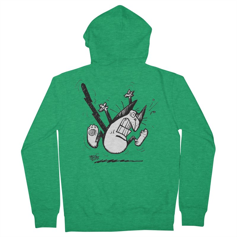 Zapped!!! Women's French Terry Zip-Up Hoody by Fuzzy Poet's Artist Shop