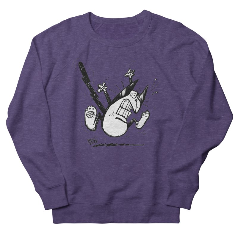 Zapped!!! Women's French Terry Sweatshirt by Fuzzy Poet's Artist Shop