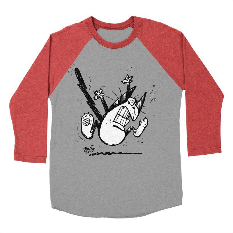 Zapped!!! Men's Baseball Triblend Longsleeve T-Shirt by Fuzzy Poet's Artist Shop