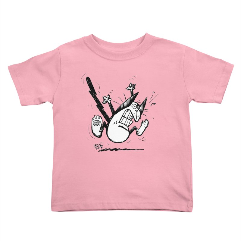 Zapped!!! Kids Toddler T-Shirt by Fuzzy Poet's Artist Shop