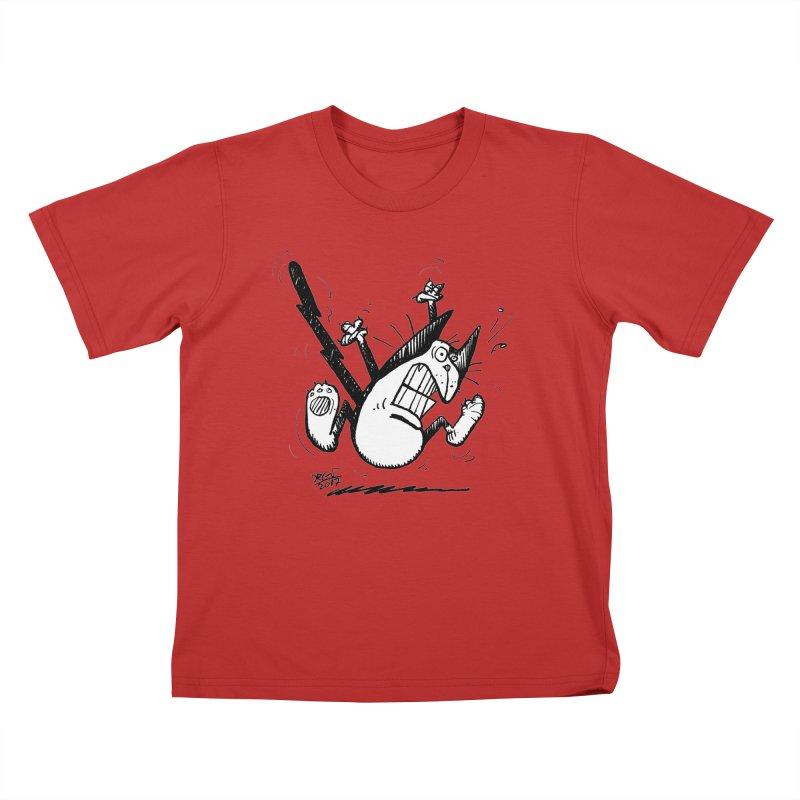 Zapped!!! Kids T-Shirt by Fuzzy Poet's Artist Shop