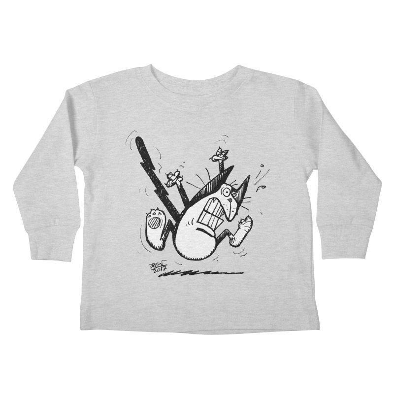 Zapped!!! Kids Toddler Longsleeve T-Shirt by Fuzzy Poet's Artist Shop