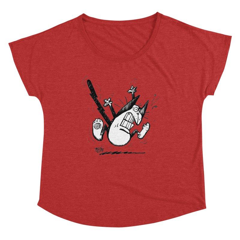 Zapped!!! Women's Dolman Scoop Neck by Fuzzy Poet's Artist Shop