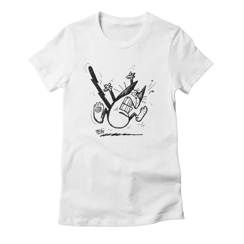 Zapped!!! Women's Fitted T-Shirt by Fuzzy Poet's Artist Shop