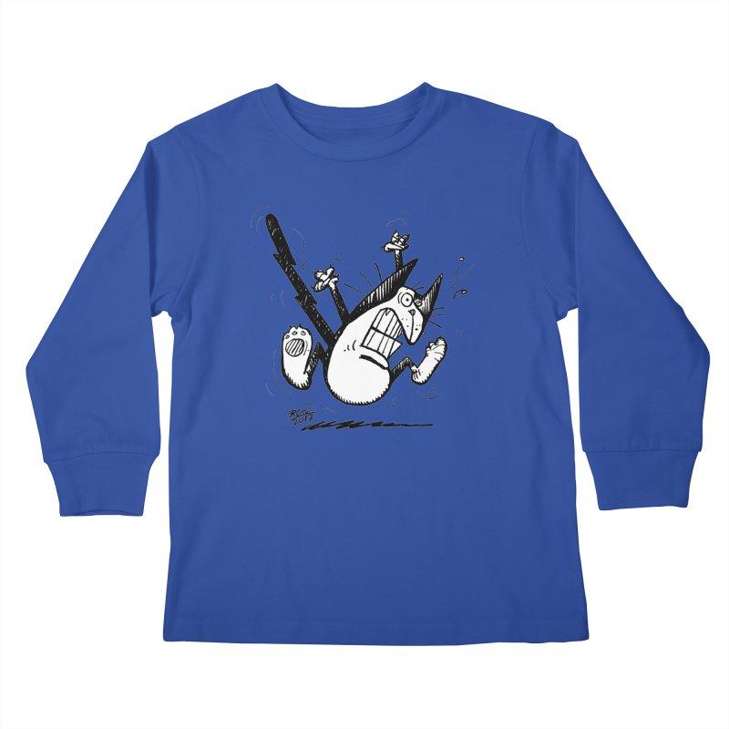 Zapped!!! Kids Longsleeve T-Shirt by Fuzzy Poet's Artist Shop