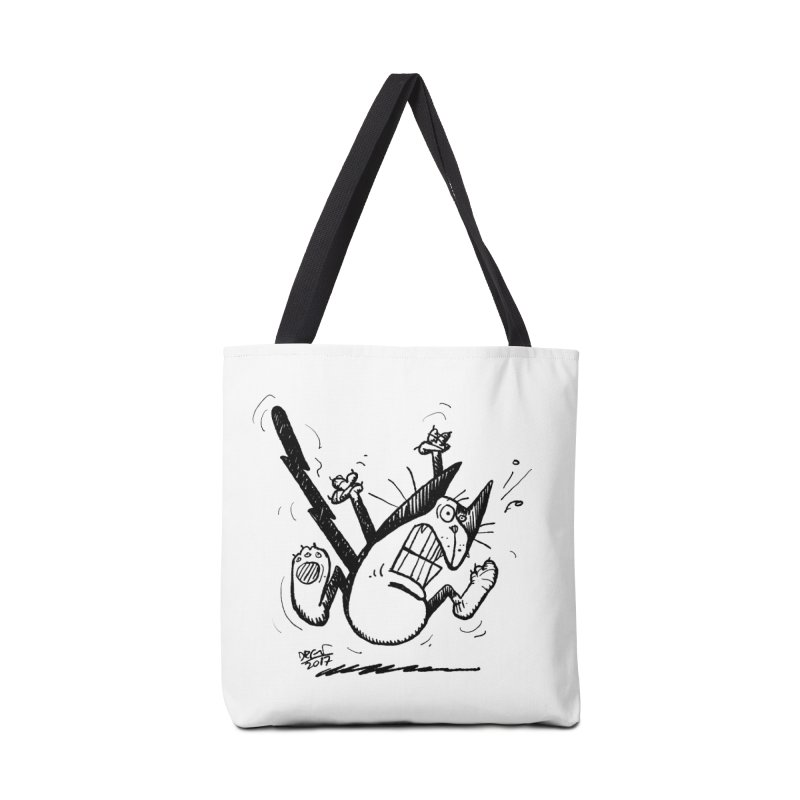 Zapped!!! Accessories Tote Bag Bag by Fuzzy Poet's Artist Shop