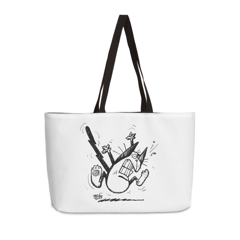 Zapped!!! Accessories Weekender Bag Bag by Fuzzy Poet's Artist Shop