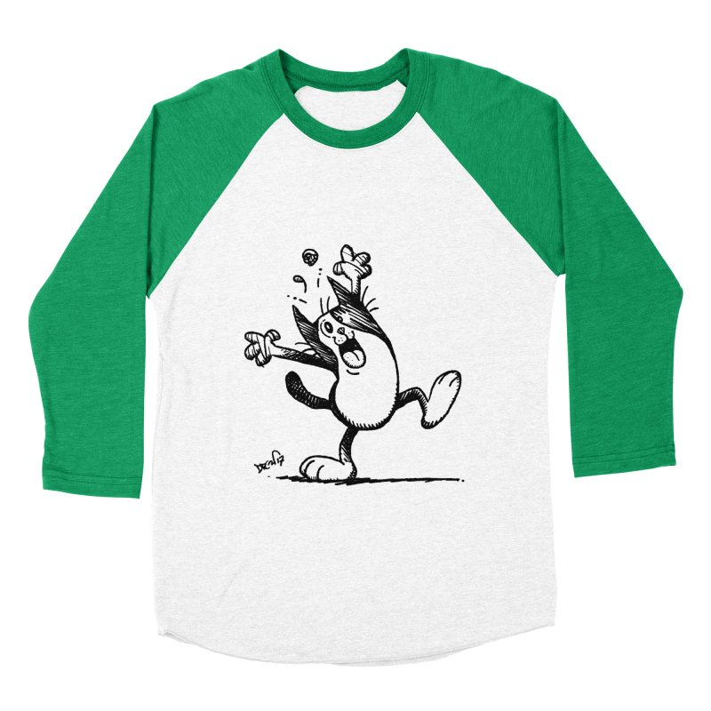 Here I Yam Women's Baseball Triblend Longsleeve T-Shirt by Fuzzy Poet's Artist Shop
